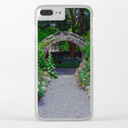 Blithewold Garden Arch Clear iPhone Case