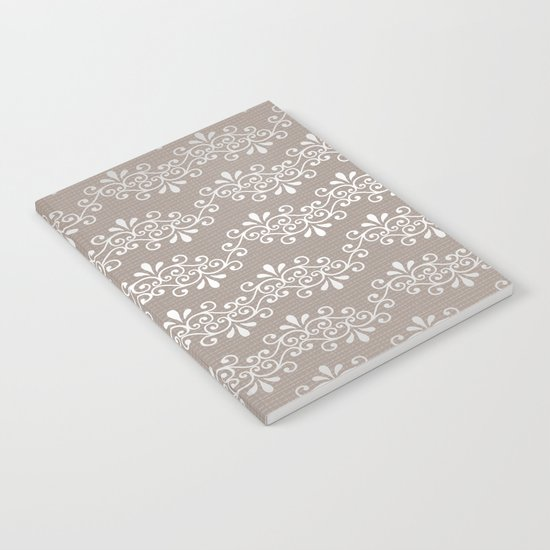 Lace on Burlap Notebook