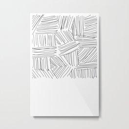 Lines #Minimal Metal Print