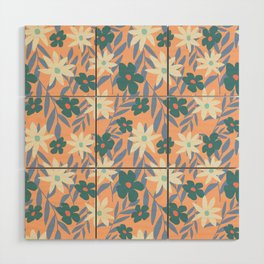 Just Peachy Floral Wood Wall Art