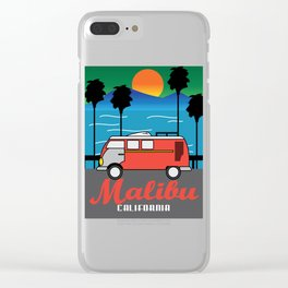 Awesome & Trendy Tshirt Designs MALIBU California Clear iPhone Case