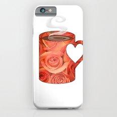 roses heart handle mug - coffee cup series Slim Case iPhone 6s