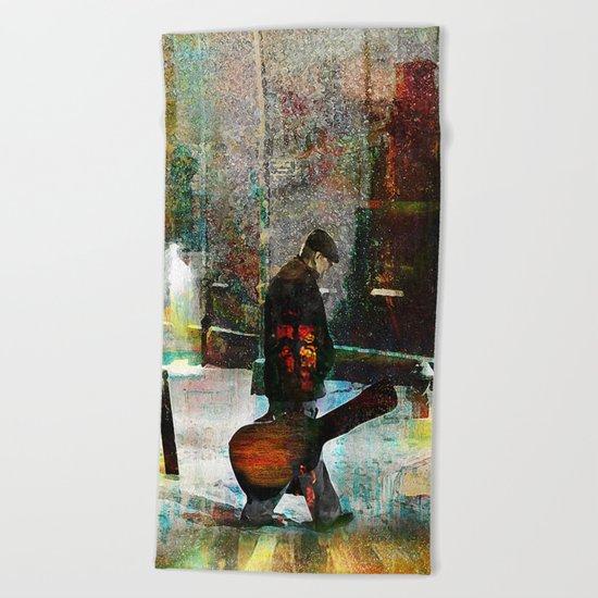 The guitarist Beach Towel