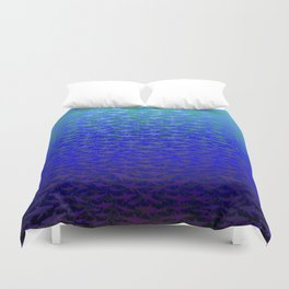 Sharks In Deep Water. Duvet Cover