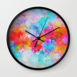 Cloudy Abstract Painting- Colorful Art Wall Clock