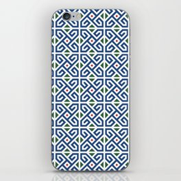 Moroccan Blue Tile Pattern iPhone Skin