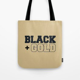Black and old Gold Tote Bag