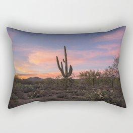 Desert sunset saguaro Rectangular Pillow