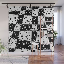 Holes In Black And White Wall Mural