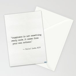 Dalai Lama XIV quote Stationery Cards