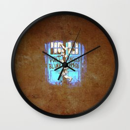 old art tardis Wall Clock