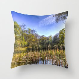 The Bulrush Pond Throw Pillow