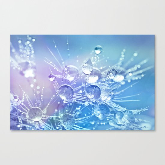Diamond Dew Flowers (Periwinkle Lavender) Canvas Print