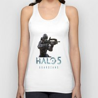 guardians Tank Tops featuring Halo5 Guardians by giftstore2u