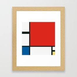 Composition II en rouge, bleu et jaune, Piet Mondrian, 1930 Framed Art Print