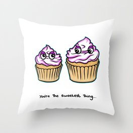 Mothers Day - You're the sweetest thing - Cupcakes Throw Pillow