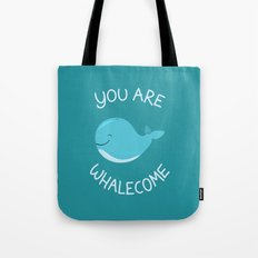 Whale, thank you! Tote Bag