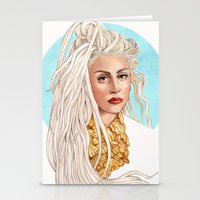 versace Stationery Cards featuring Versace Venus by Helen Green