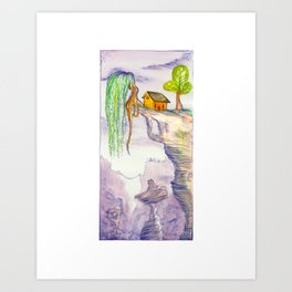 The Lonely Yellow House Art Print