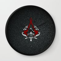 assassins creed Wall Clocks featuring Creed Assassins  by neutrone