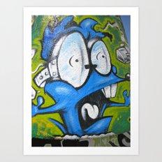 Graffiti Monster Art Print