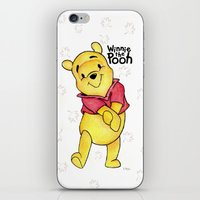 pooh iPhone & iPod Skins featuring Winnie the Pooh by laura nye.