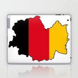 Germany Map with German Flag Laptop & iPad Skin