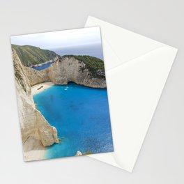 Navagio Beach with Shipwreckon Zakynthos Island, Greece Stationery Cards