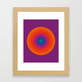 Retro Bullseye Pattern Framed Art Print