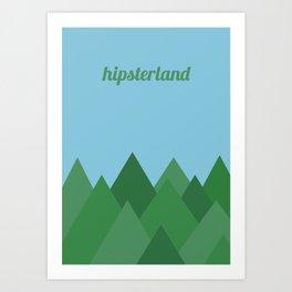 Hipsterland Art Print
