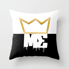 Modesty's End - 1/2n1/2 Crwn Throw Pillow