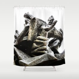 Reaching for Sanity Shower Curtain