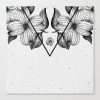 flora Canvas Prints featuring FLORA by Nikola Nupra