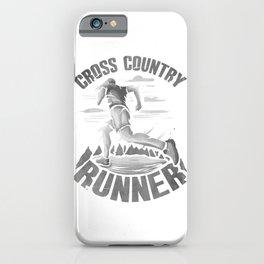 Running Addict Cross Country Runner iPhone Case