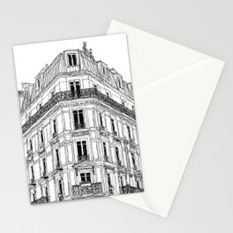 Parisian Facade Stationery Cards