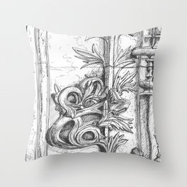 batalha stone detail Throw Pillow