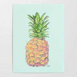 Mint Brite Pineapple Poster
