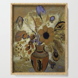 "Odilon Redon ""Etruscan Vase with Flowers"" Serving Tray"