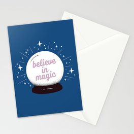 "Crystal ball ""believe in magic"" Stationery Cards"