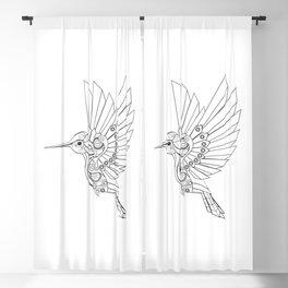 Contour Steampunk Mechanical Hummingbird Blackout Curtain