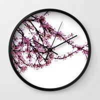 sakura Wall Clocks featuring sakura by MILDA HE