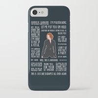 black widow iPhone & iPod Cases featuring Black Widow by MacGuffin Designs