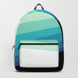 70s 80s Retro Colors Palette Blue 1 Backpack