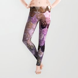 SUMMER MERMAID MOONSHINE  GOLD 2 Leggings