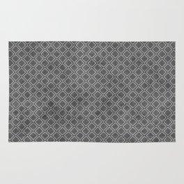 Grey vintage cubic pattern Rug
