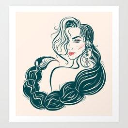 Besa Mi Cola Art Print