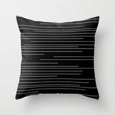 Minimalistic Lines Black Throw Pillow