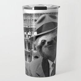 Sloth in Rome Travel Mug