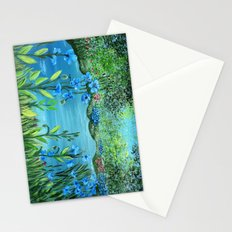 Garden of Blue poppies Stationery Cards