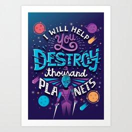 A Thousand Planets Art Print